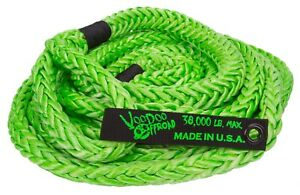 Voodoo Kinetic Recovery Rope 7 8 X 30 38 000 Rated Free Bag Green 1300002