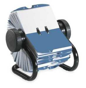 Rolodex 67236 Rotary Card File 200 Ct Metal