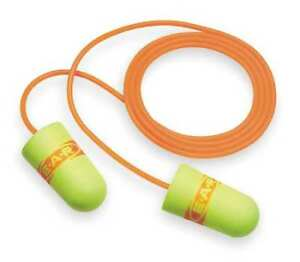 Corded Ear Plugs 33db Rated Disposable Tapered Shape Pk 200 3m 311 1254