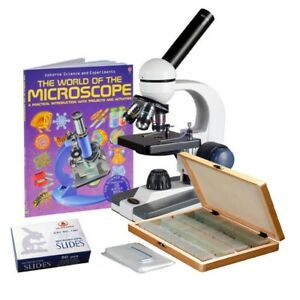 Amscope 40x 1000x Cordless Student Biological Microscope prepared
