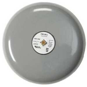 Fire Bell gray 10 In 20 To 24v