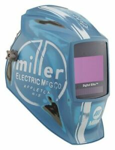 Welding Helmet Vintage Roadster Blue Miller Electric 281004