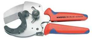 Knipex 90 25 40 Plastic Pipe Cutter ratchet 1 9 16 Cap