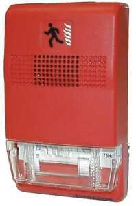 Strobe marked Fire red Edwards Signaling Eg1rf vm