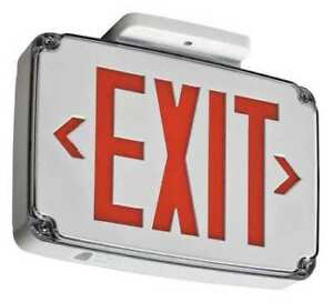 Lithonia Lighting Wlte W 1 R Acuity Lithonia Thermoplastic Led Exit Sign
