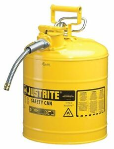 Type Ii Safety Can yellow 17 1 2 In H Justrite 7250220