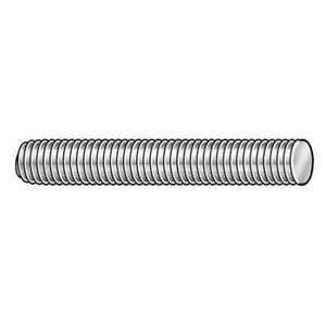 1 8 X 12 Zinc Plated Low Carbon Steel Threaded Rod