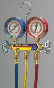 Yellow Jacket 42024 Mechanical Manifold Gauge Set 2 valve