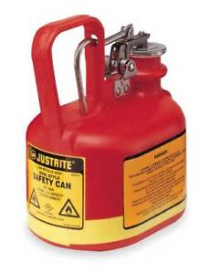 Type I Safety Can 1 2 Gal red Justrite 14065