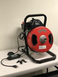 50 Feet Compact Electric Drain Cleaner Drum Auger Snake With Accessories