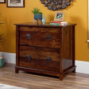 Mission Craftsman Dark Cherry Lateral File Filing Cabinet New