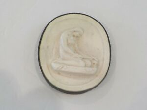 Authentic Grand Tour Classic Plaster Cameo Intaglio Medallion C 1820 1