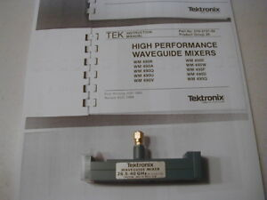 Wmx10 Tektronix 26 40 Ghz W g Mixer For 492 Later Spec Ans W Book Copy Nos