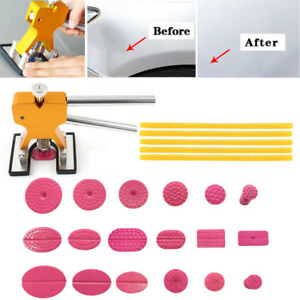 24pc Hail Paintless Dent Removal Puller Lifter Tools Tabs Suction Repair Kit