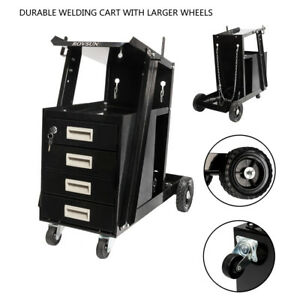 4 Drawer Cabinet Welder Welding Cart Plasma Cutter Mig Tig Arc Tank Storage
