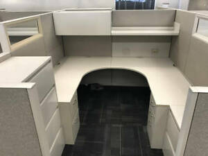 Used Office Cubicles Steelcase Answer 7 5x8 5 Cubicles