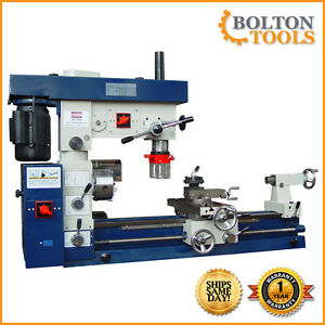 Bolton Tools 12 X 30 Metal Lathe Mill Drill Milling Combo Machine At750