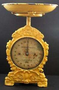 Antique Cast Iron Victorian Salter 49 Household English 20lb Accurate Scale