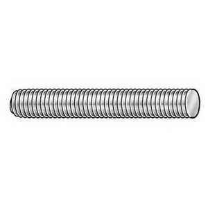 3 4 16 X 3 Plain 316 Stainless Steel Threaded Rod Zoro Select 44233