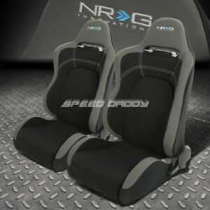 Nrg 2 X Type r Lightweight Fully Reclinable Racing Seat seats sliders Gray black
