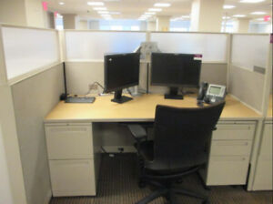 Used Office Cubicles Allsteel Stride 6x2 5 Cubicles