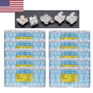 10 Boxes Dental Orthodontic Clear Ceramic Bracket Mini Roth 022 345w h Elegan I