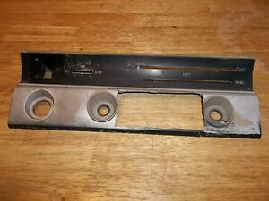 1966 Dart Convertible Instrument Panel Finish Plate With Radio Without A C
