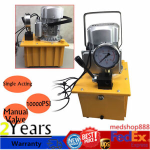 Electric Driven Hydraulic Pump Single Acting Manual Valve 10000psi 110v Fastship