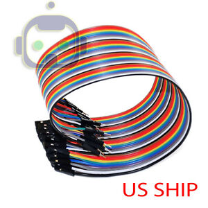 1x 40pcs Dupont Wire Jumper Cables 20cm 2 54mm Male To Female 1p 1p For Arduino
