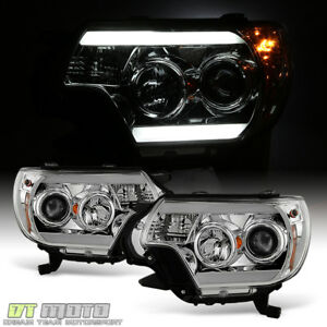 For 2012 2015 Toyota Tacoma Led Tube Drl Projector Headlights 12 15 Headlamps