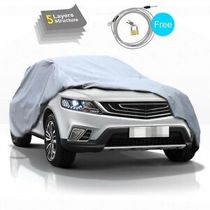 Universal 5 Layer Up To 182 Suv Car Cover Seamless Sun Snow Rain Resist Outdoor