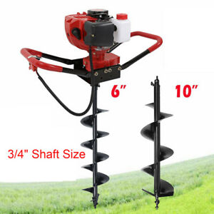 2 3hp 52cc Gas Earth One Man Post Hole Digger Machine Auger Drill 6