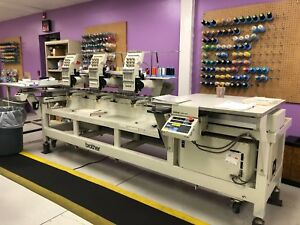 Brother Bas 423 3 Head Embroidery Machine
