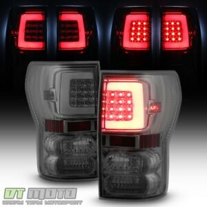 For Smoked 2007 2013 Toyota Tundra Led Tube Tail Lights Brake Lamps Left Right