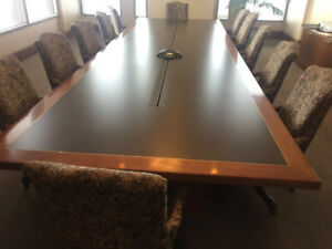 Used Office Furniture Used Leather Conference Room Tables