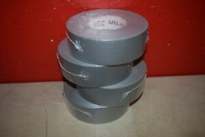 4 Rolls Nashua 398 Duct Tape Silver Gray 48mm X 55m