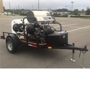 Pressure Wash Trailer Hot Water Industrial Trailer Mounted Power Washer
