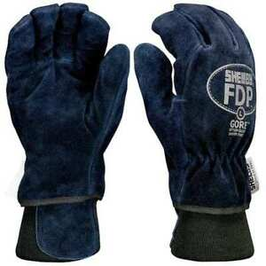 Firefighters Gloves s cowhide Lthr pr Shelby 5227 S