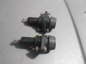 Lot Of 2 Giles Mgf 40 Fryer Fuses And Fuse Holders
