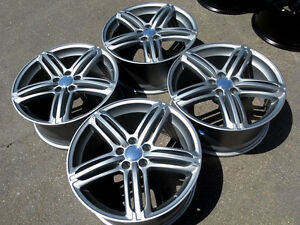 18 Wheels 18x8 0 35 5x112 S Line Style Silver Rims Set Of 4