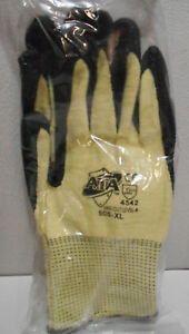Lot Of 2 Pair Of Ata 505 xl Nitrile Coated Safety Gloves Xl Cut Resistant Lev 4