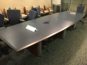 Used Office Furniture Used Boat Shaped Conference Room Tables