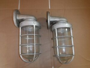 New Pair Appleton Form 200 Explosion Roof Lights Fixture Steampunk