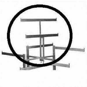Store Display Fixtures New Double Rectangle Tubing Bar Scarecrow Rack Topper