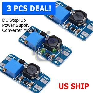 3pcs Dc dc 2a Adjustable Step Up Boost Power Supply Converter Module N108