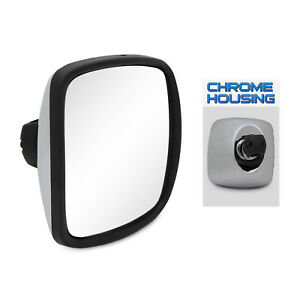 03 17 Freightliner M2 8 x8 5 Wide Angle Mirror Housing Chrome side Replacement