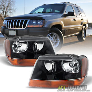 1999 2004 Jeep Grand Cherokee Laredo Headlights Lamps Replacement Set Left right