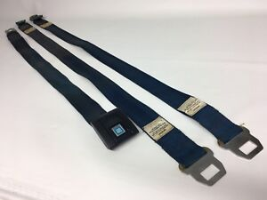 1970 Gm Seat Belts Shoulder Harness Receivers Buckle Chevelle Gto 442 Blue