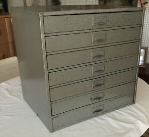 Lyons Industrial Metal 7 Drawer Parts Bin Crafts Hardware File Cabinet Storage