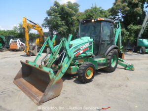 2012 Case 580n 4x4 Backhoe Wheel Loader Tractor Heated Cab Diesel Bidadoo